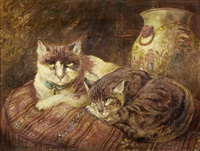 tortoiseshell cats by william huggins