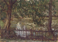 pond, golders hill park (+ riverside; 2 works) by kalman kemeny