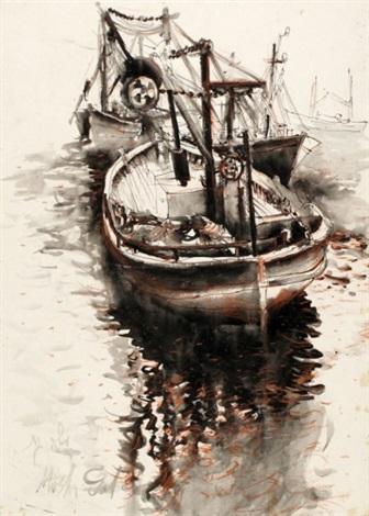 fishermens boats by moshe gat