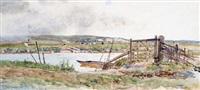 ferry across the arun at bury by thomas james lloyd