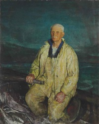 the boat steerer by charles webster hawthorne