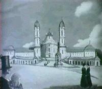 kloster einsiedeln by august weber