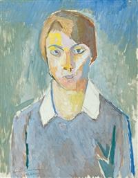 model's portrait by ksawery dunikowski