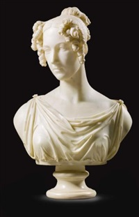 bust of a noblewoman by joseph gott