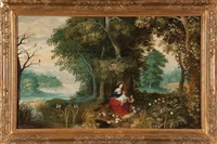 la sainte famille dans un paysage printanier by jan brueghel the younger and peeter van avont