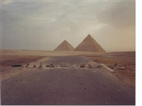 road blockade and pyramids by richard misrach