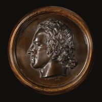 portrait roundel of alfred, lord tennyson by thomas woolner