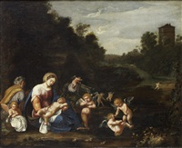 the rest on the flight into egypt by francesco albani