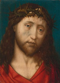 christ crowned with thorns by hugo van der goes