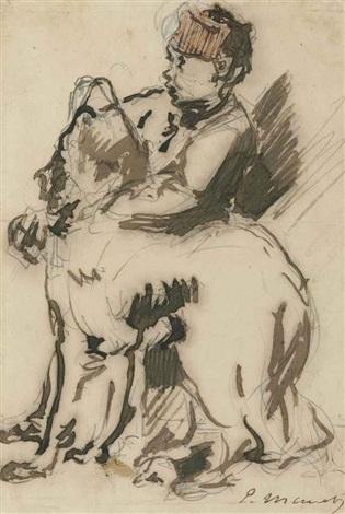 le gamin et le chien by édouard manet