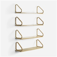 wall shelves (set of 4) by alvar aalto