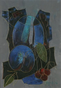 nature morte aux cerises by tony agostini