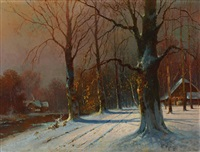 winterlandschaft by franz waldegg