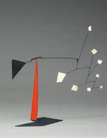white quadrangles black triangles by alexander calder