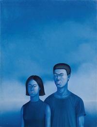 portrait de l'artiste et sa femme, chen et mimi by chen ying-teh