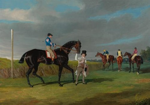 preparing to start for the doncaster gold cup by john frederick herring the elder