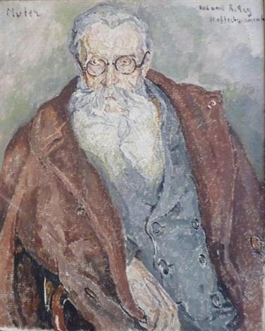 portrait de m rey sans titre sketch verso by maria mela muter