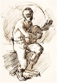 guitar player by william strang