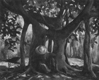 under the banyan tree (fig tree) by aleen aked