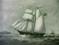 the two-mast top-sail schooner alfred by joseph semple