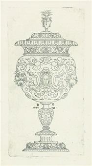un grand verre à pied (from suite gefässe und gefässteile) by bernhard zan