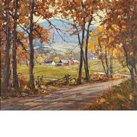 october road, jerico, vt by robert shaw wesson