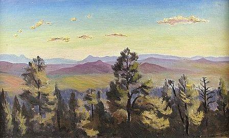 vues du nouveau-mexique (2 works) by robert bartlett