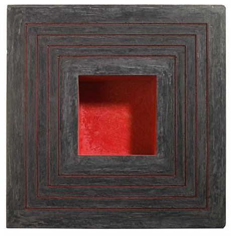 four red lines with red interior by jackie winsor