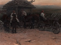 gypsies with horses by jaroslav friedrich julius vesin