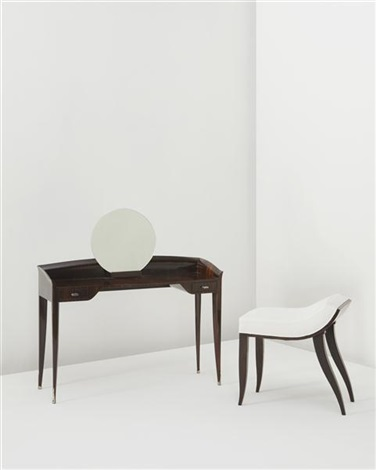 dressing table and stool 2 works by émile jacques ruhlmann