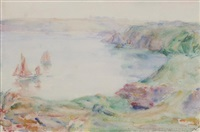 harbour scene by john peter russell