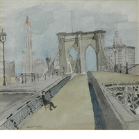 brooklyn bridge by raphael soyer