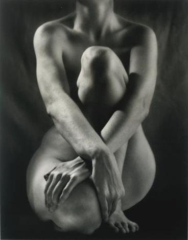 classic torso with hands by ruth bernhard