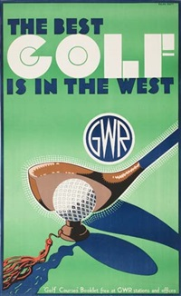 the best golf is in the west by posters: sports