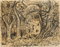 paysage du connecticut by andré masson