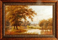 country landscape (+ another; pair) by william foster