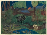 carolina morning (recollection pond) by romare bearden