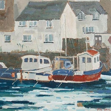 moored fishing boats falmouth another 2 works by eric ward