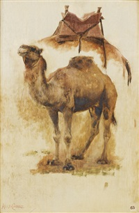etude de chameau (study) by alexandre cabanel