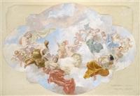 plafondskizze für den tanzsaal palais paul rit. v. schoeller by j. karl peyfuss