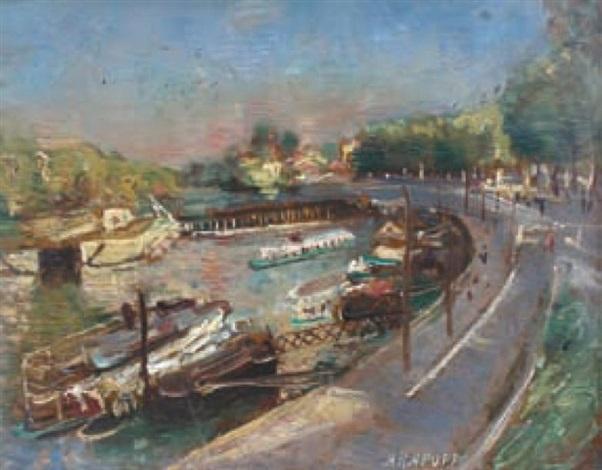 bateaux au port by alexis paul arapov