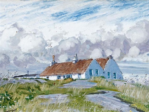 elizabeth river's cottage, aran islands by maurice macgonigal