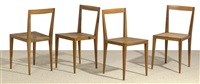 chairs (set of 4) by julius jirasek