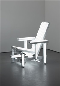 white electric chair by iván navarro