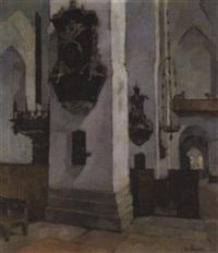 inneres der petri-kirche in lübeck by waldemar rosatis