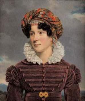 portrait dune jeune femme au turban de cachemire by henri françois riesener