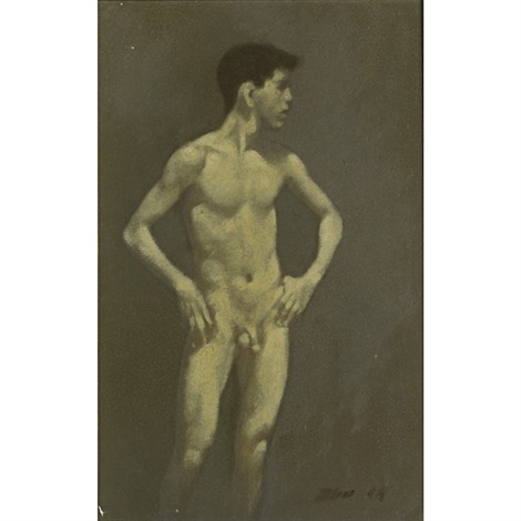 standing male nude by robert r bliss