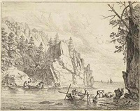 landscape with men catching crayfish by jan van aken