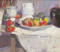 still life (studio) by gordon bryce