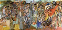 the poet's garden - self-portrait iii (diptych) by harold klunder